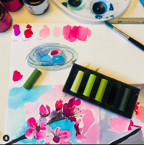 April Watercolour and Pastel Box - Subscribe and SAVE