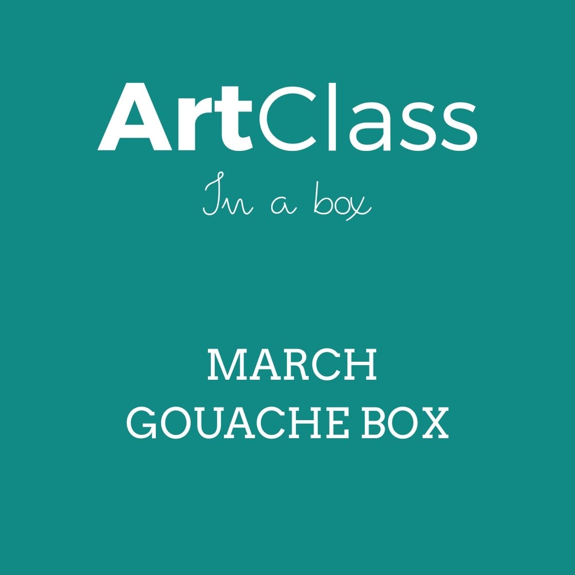 March Gouache Art Box  -  SOLD OUT