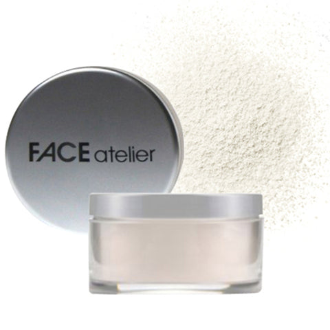 FACE Atelier Ultra Loose Powder glass jar with metal lid Bev Sidders Skincare