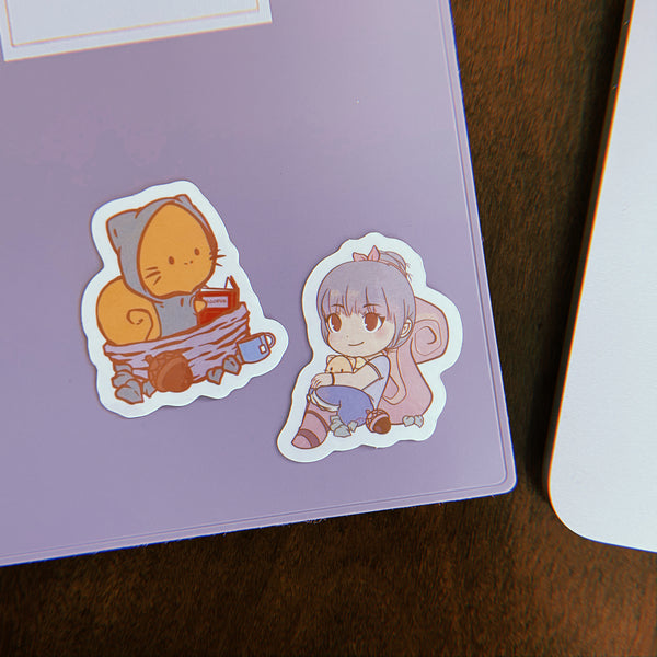Kat and Mr. Wal Sticker Duo