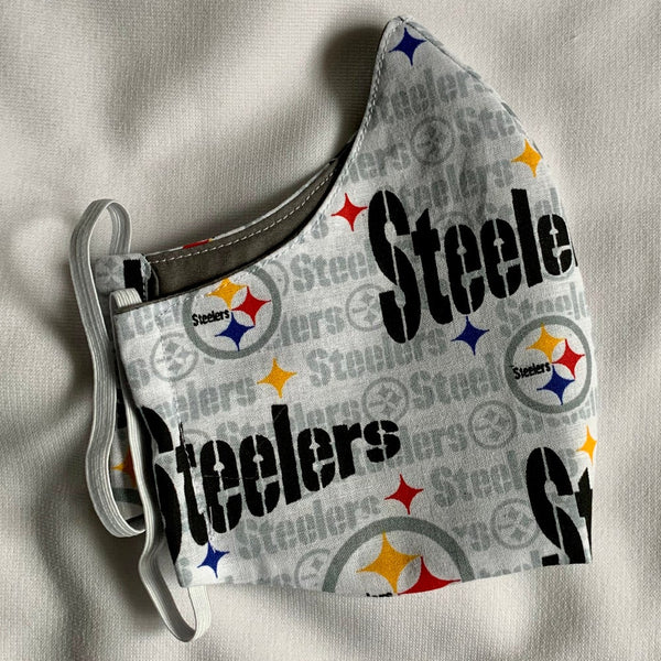Fabric Face Mask (Steelers White)