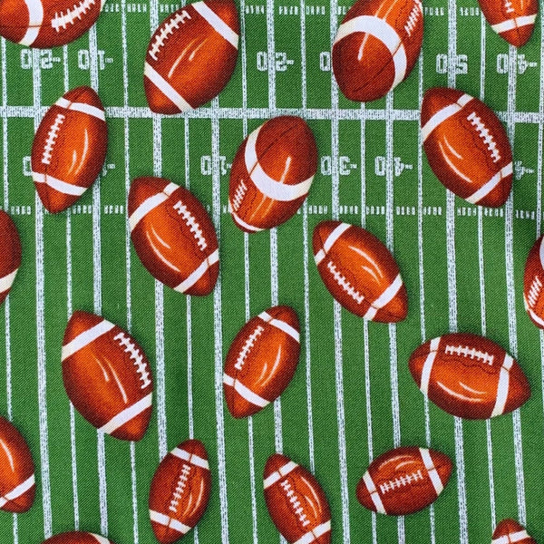 Fabric Face Mask (Footballs)