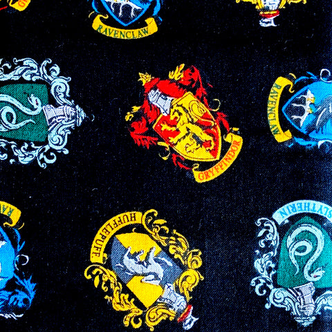 Fabric Face Mask (Harry Potter Crests)