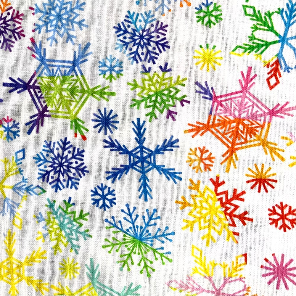 Fabric Face Mask (Rainbow Snowflakes)