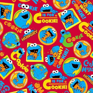 Fabric Face Mask (Cookie Monster)