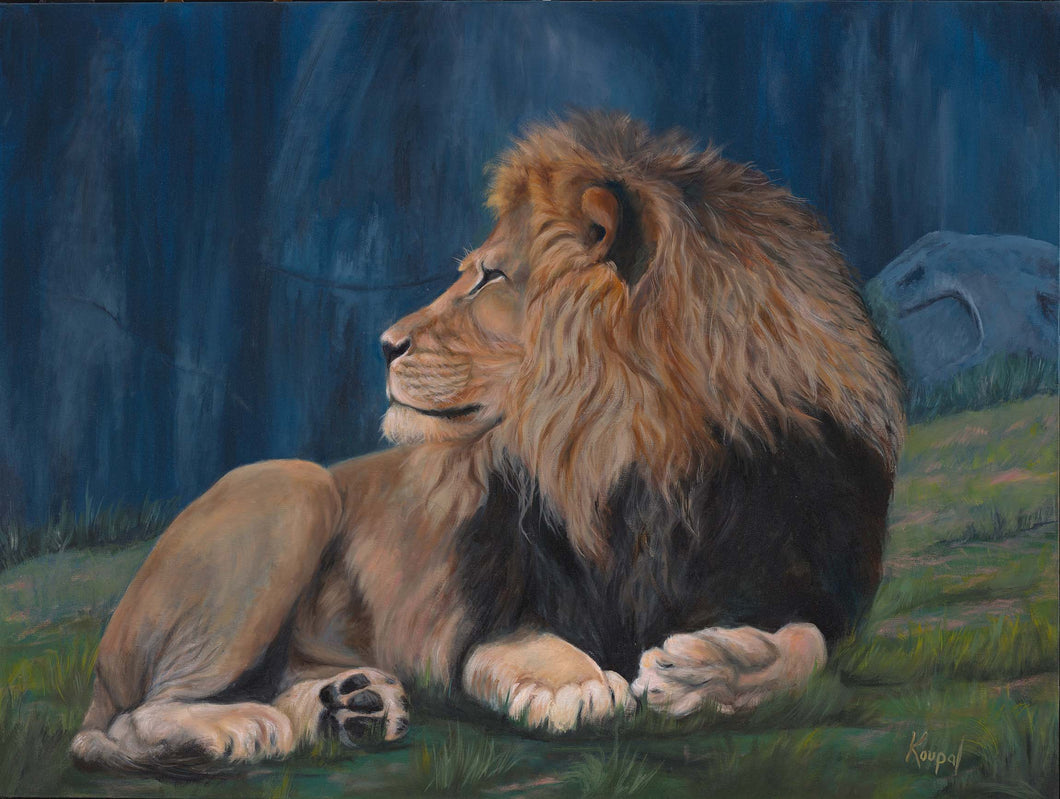 Greeting Card - Divine (Male Lion)