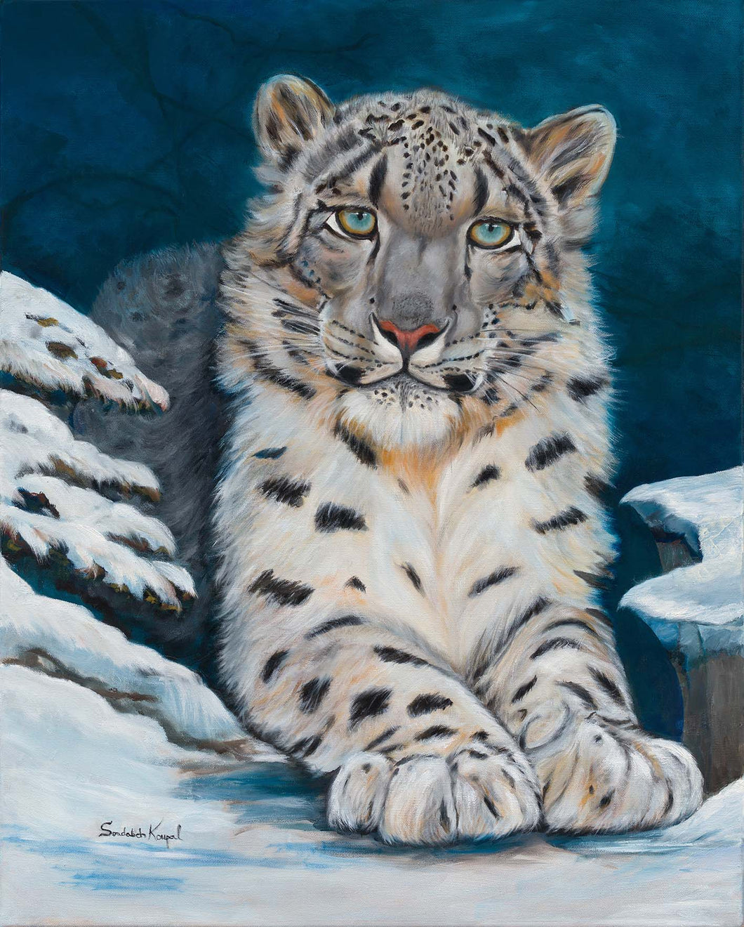 Greeting Card- Snow Leopard