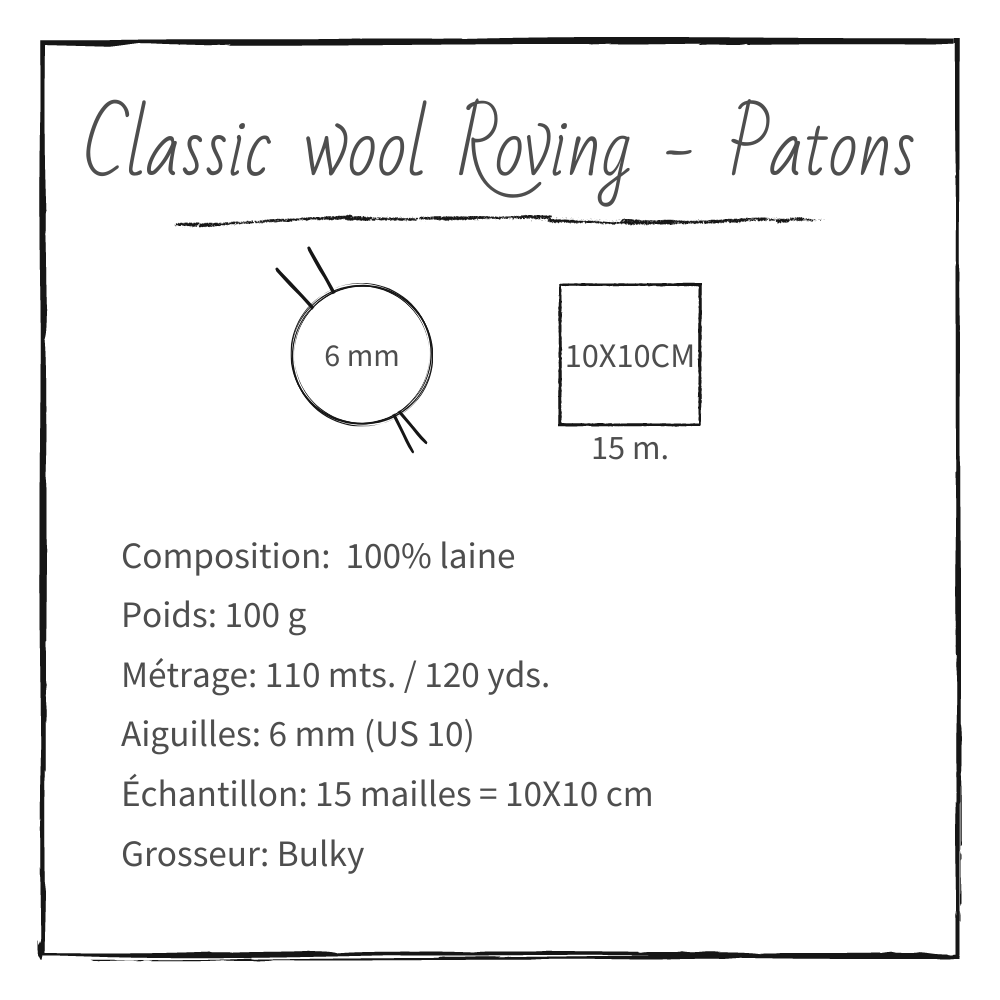 Patons, Classic Wool Roving
