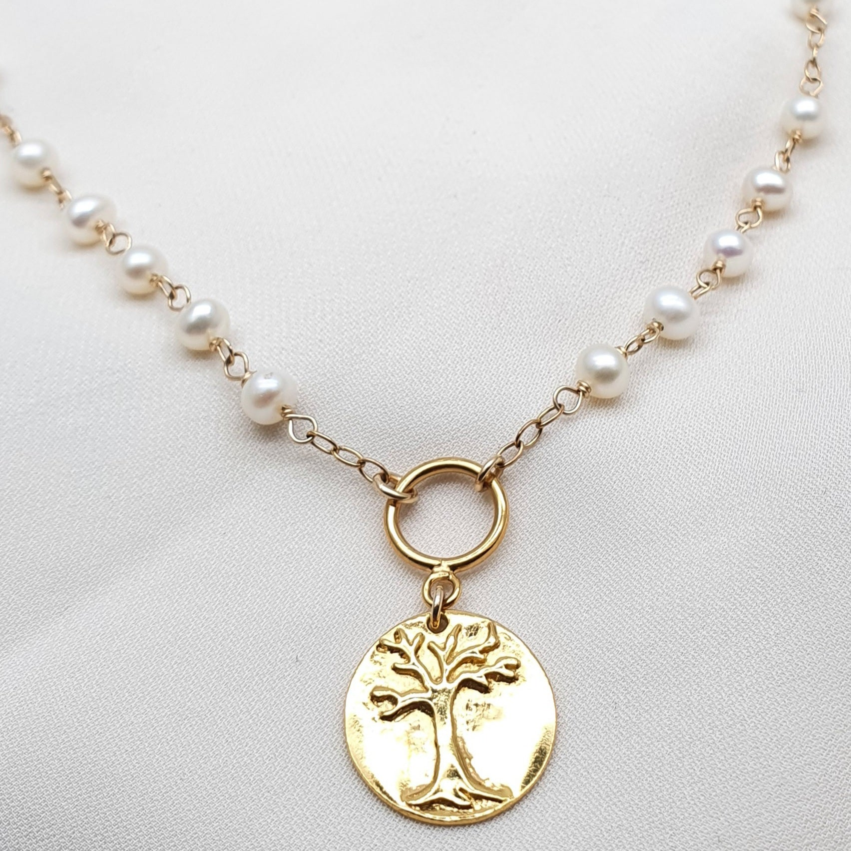 Tree of Life Pearls - Gold