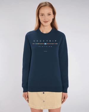 Load image into Gallery viewer, Good Trip Clothing Sweat Top - Flags of the Country