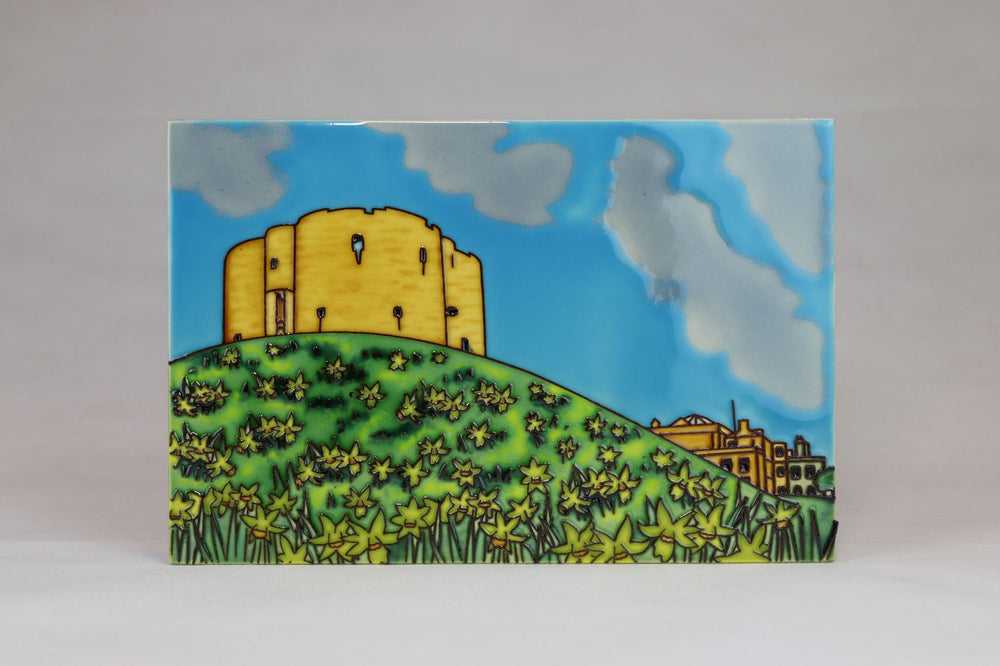 Questoe Large Ceramic York Plaque - Clifford's Tower