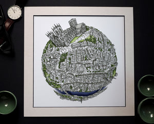 Load image into Gallery viewer, Staves Art - The York Globe (2020) Hand Drawn City Map Art