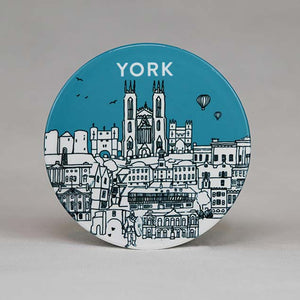York Sketch Ceramic Coaster