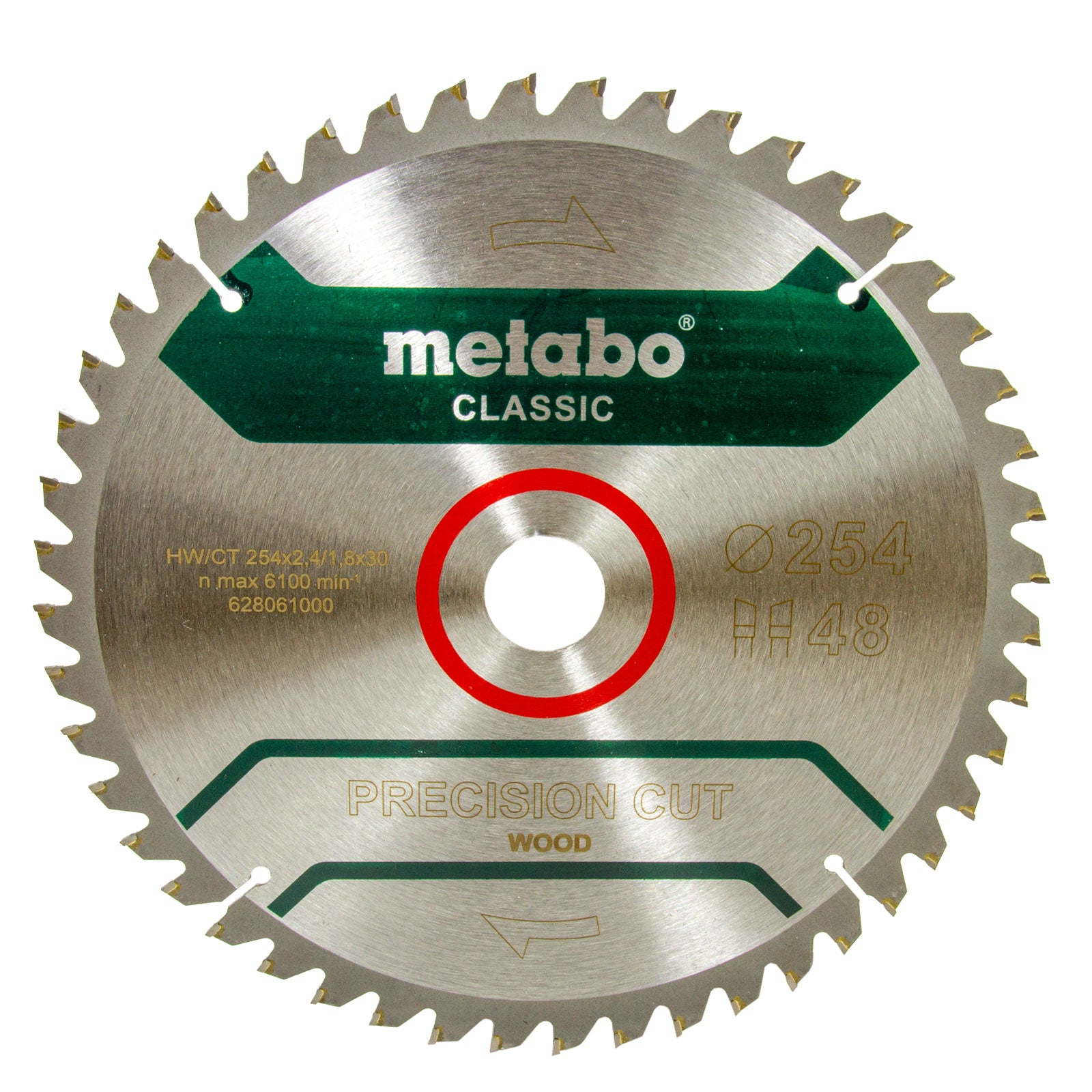 Metabo Kreissägeblatt PRECISION CUT WOOD - CLASSIC, 254 X 30 mm Z 48