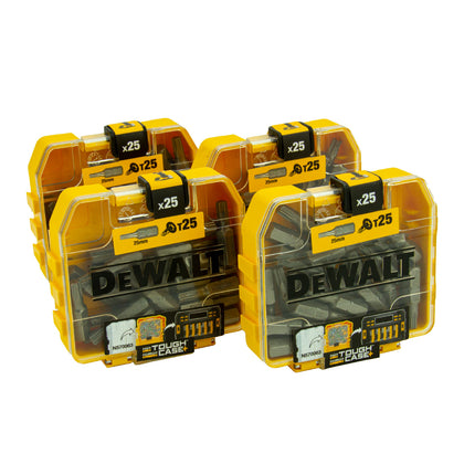 DeWalt 4 x Bit-Box DT7962-QZ, 100 x T25 Bit in Tough Box