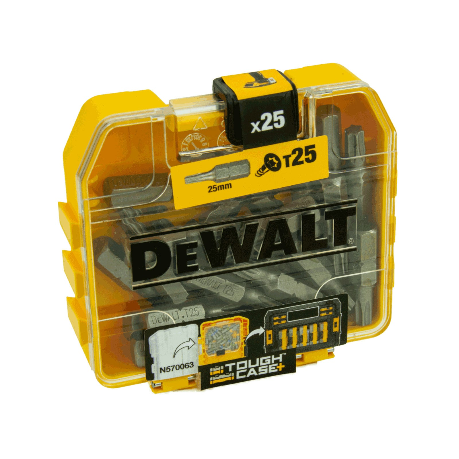 DeWalt 2 x Bit-Box DT7962-QZ, 50 x T25 Bit in Tough Box