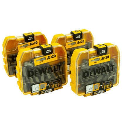 DeWalt 4 x Bit-Box DT7961-QZ, 100 x T20 Bit in Tough Box