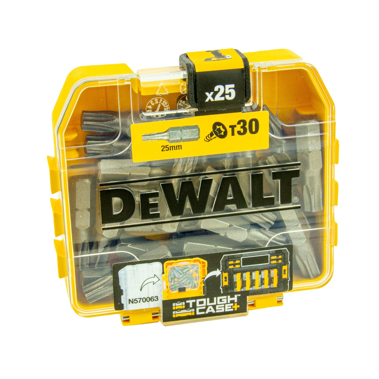 DeWalt 4 x Bit-Box DT7963-QZ, 100 x T30 Bit in Tough Box