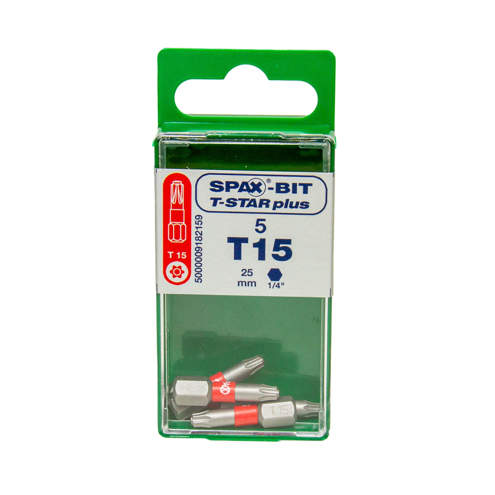 Bits T-Star plus 25 mm, 5 Bits im Spax Cut-Case, T10 | T15 | T20 | T25 | T30 | T40