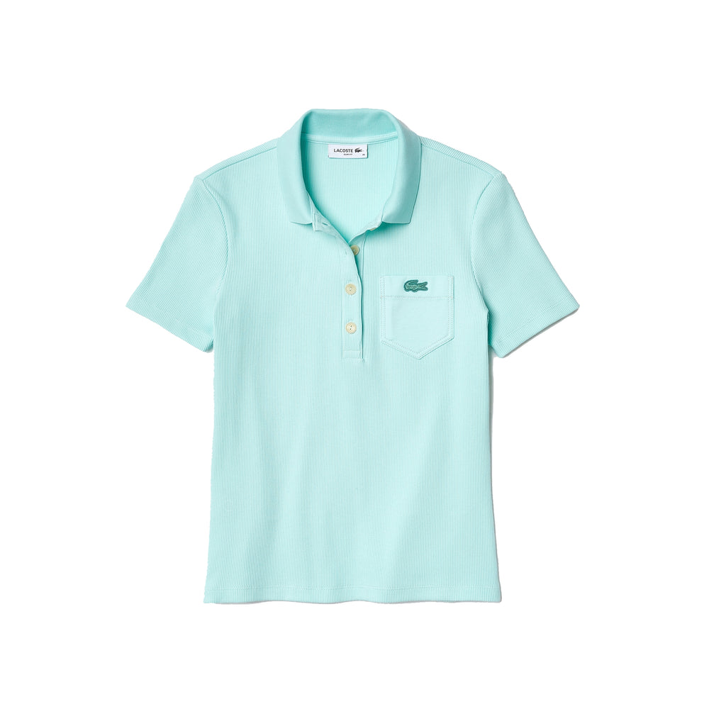 Lacoste DF1223 Women's Lacoste Slim Fit Ribbed Cotton Polo