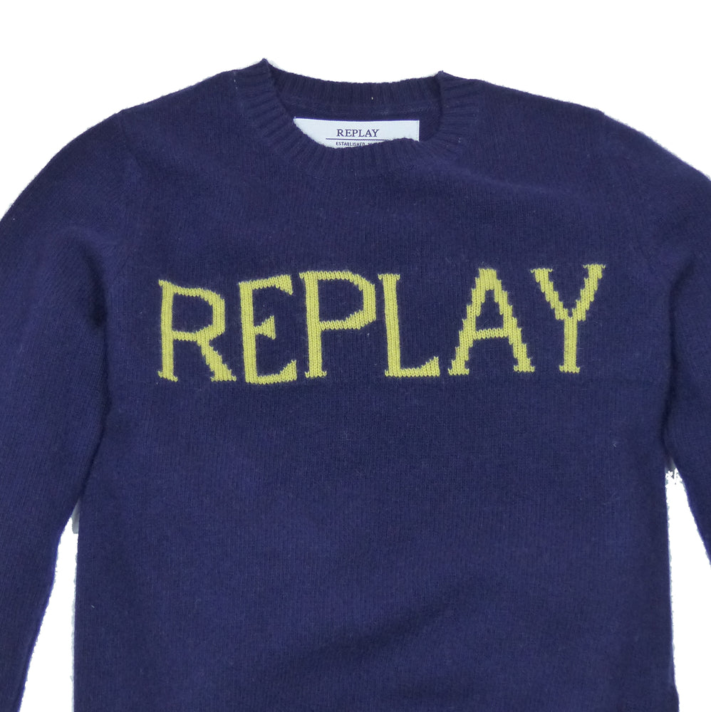 Replay DK1219 Logo Crew Neck Knitted Jumper