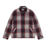 Carhartt Detroit Vermont Check Jacket, Dark Navy / Bordeaux