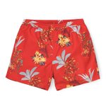 Carhartt Drift Swim trunks, Hawaiian Floral Print, Red