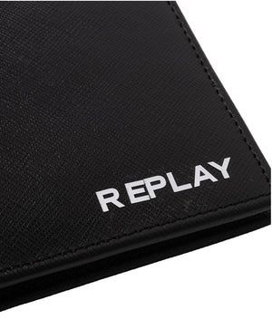 Replay Fm5210 leather wallet with saffiano effect