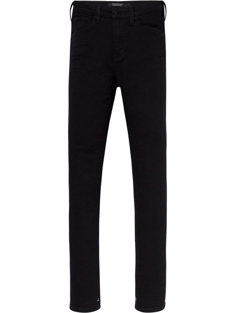 Scotch & Soda Womens Haut High Rise Skinny Jeans, Stay Black