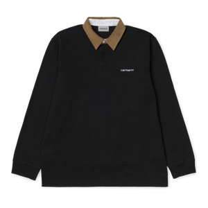Load image into Gallery viewer, Carhartt Cord Rugby Shirt, Black