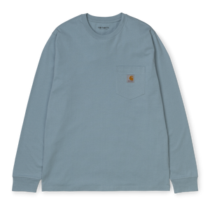 Load image into Gallery viewer, Carhartt L/S Pocket T-Shirt, Frosted Blue