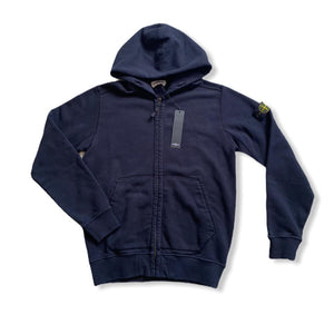 Stone Island Junior 691660640 Hooded Zip Thru Sweatshirt