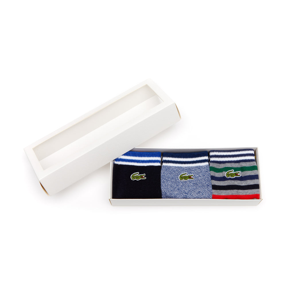 Lacoste Kids RA0094 / 0096 Three Pack Jersey Socks