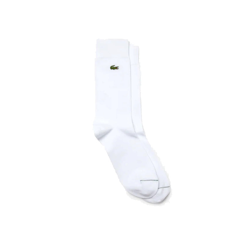 Lacoste Ra7805 Men's Embroidered Crocodile Cotton Blend Socks