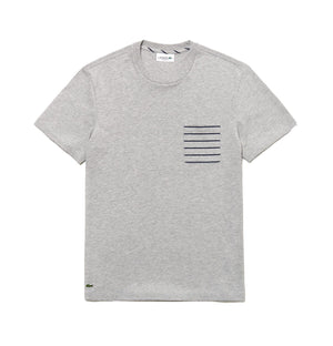 Lacoste TH4259 Striped Pocket Crew Neck T-Shirt