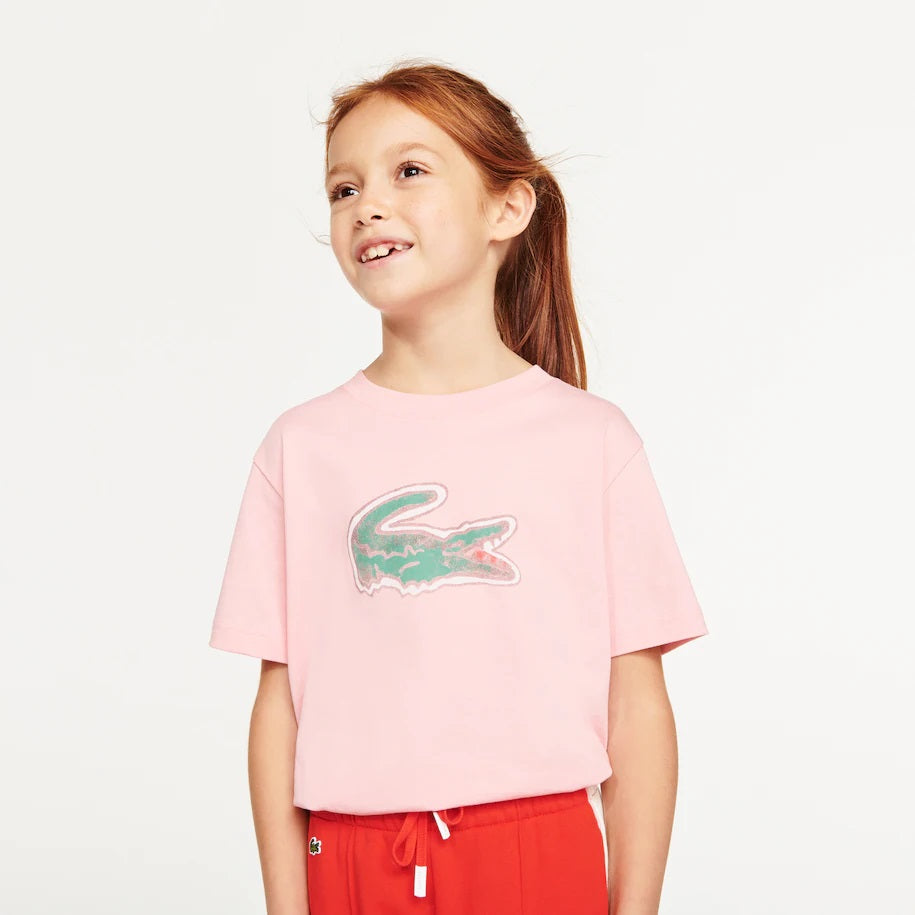 Lacoste Kids TJ0277 Boys' Crocodile Print Cotton T-shirt
