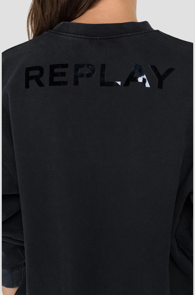 Replay W3580 crewneck sweatshirt with rhinestones