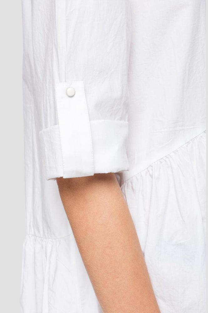 Load image into Gallery viewer, Replay Womens W9562 Poplin Cotton Shirt Dress with Mandarin Collar
