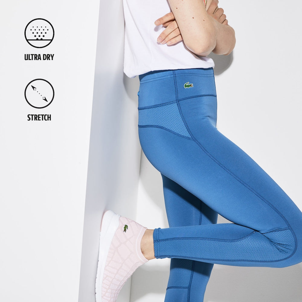 Load image into Gallery viewer, Lacoste Womens Sport XF8938 Stretch Jersey Tech Leggings, Blue / Light Blue 9ZH