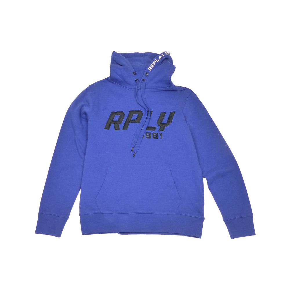 Load image into Gallery viewer, Replay M3909 Logo Hooded Sweatshirt, Blue