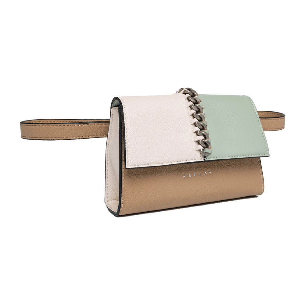 Replay FW3929 Tonal Waist Bag, Taupe/Beige/Mint