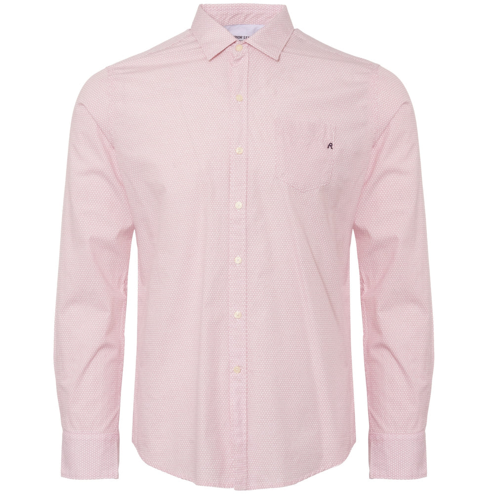Replay M4953P L/S Print Shirt, Pink/White