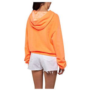 Replay Women's W3878A Hooded Sweatshirt, Washed Orange