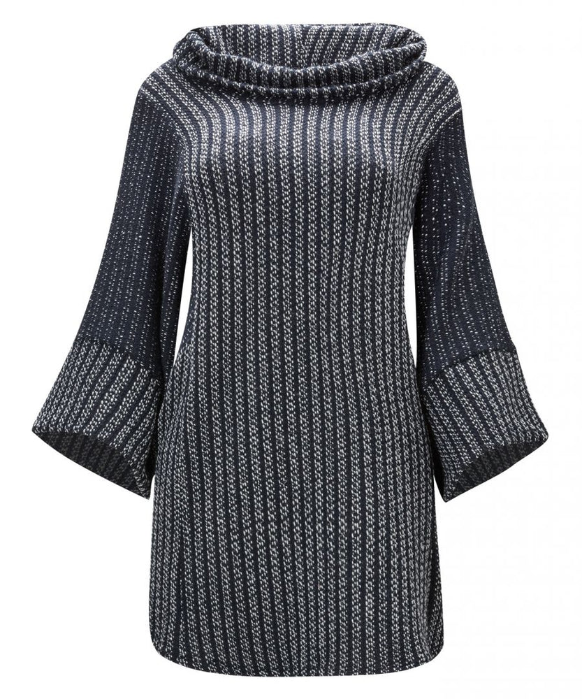Joe Browns WK323A Striped Oversized Knited Jumper, Navy