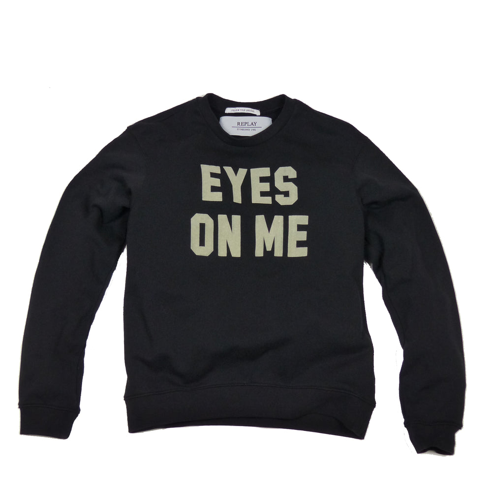 Replay Womens W3971C Eyes On Me Lettering Crew Neck Sweatshirt