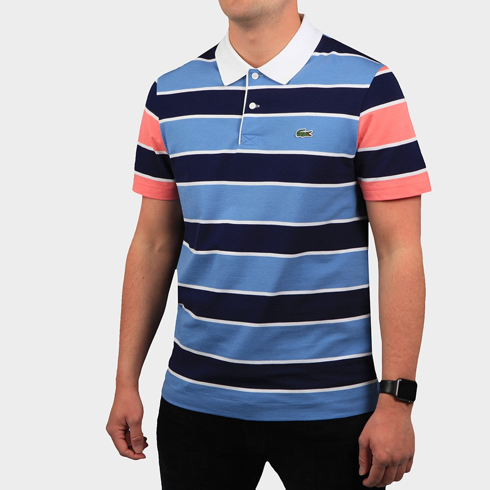 Lacoste YH9861 Men's Regular Fit Striped Ultra-Lightweight Knit Polo Shirt