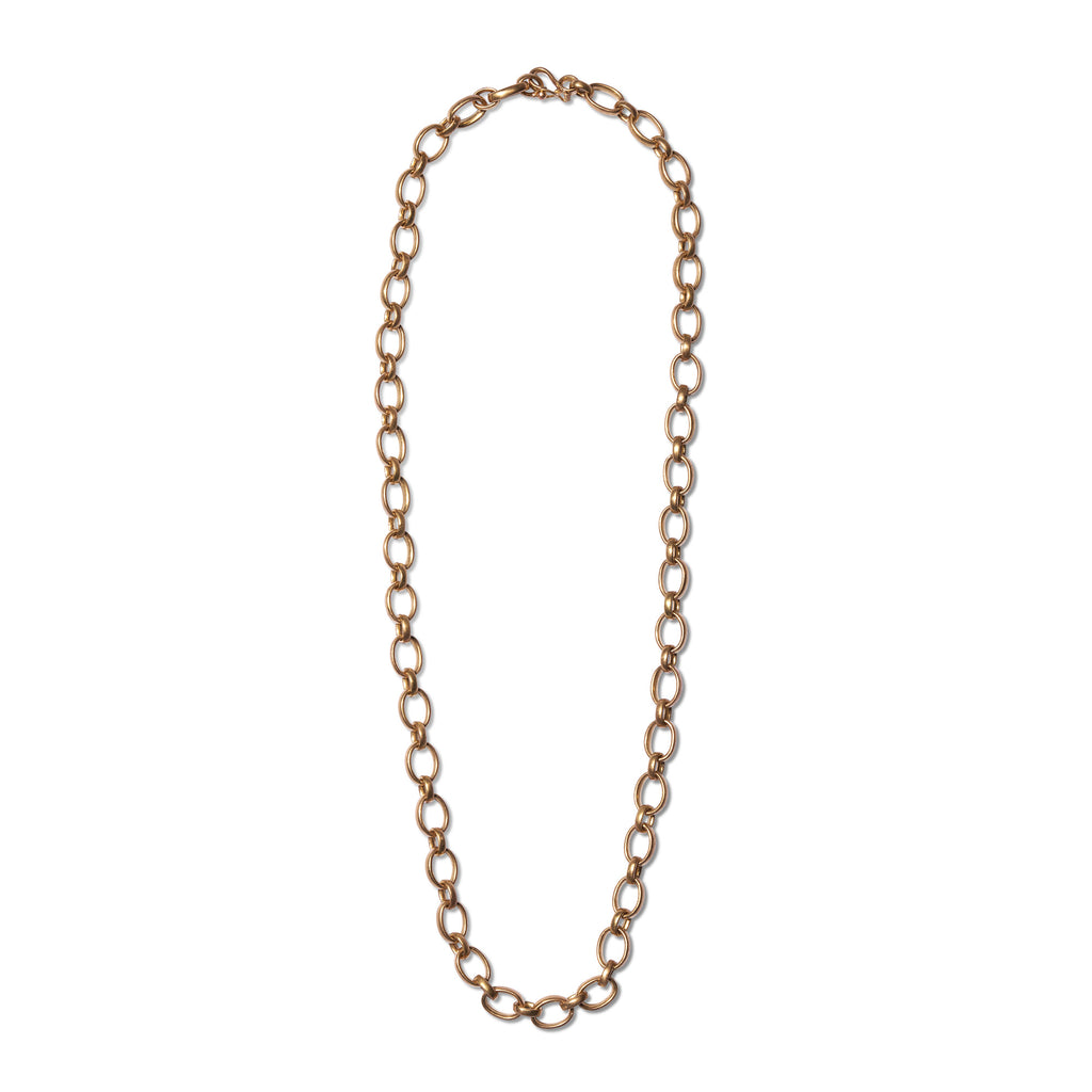 20K Peach Gold Sonoma Medium Mixed Link Chain, 20""