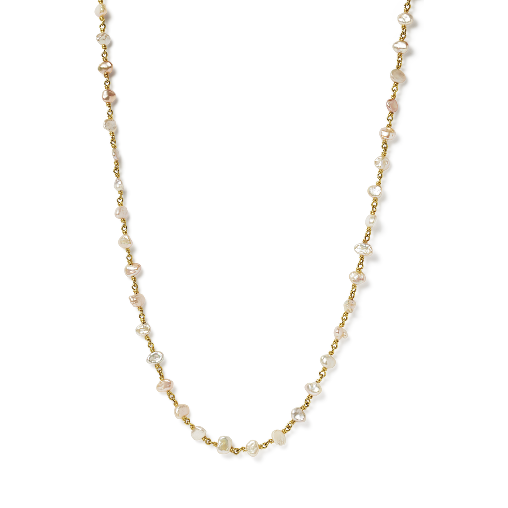 Isabella Necklace with Pearls 16""