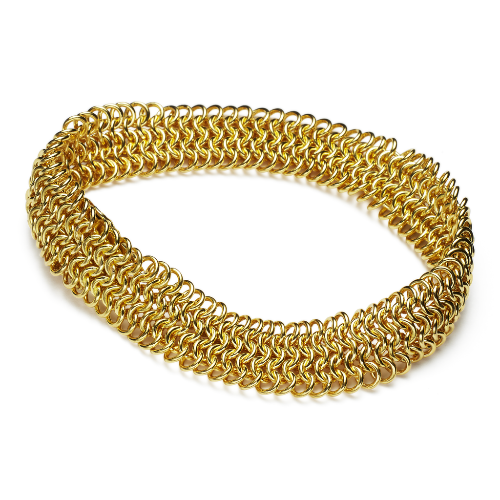 22K Yellow Gold Guinevere 5 Row Bracelet