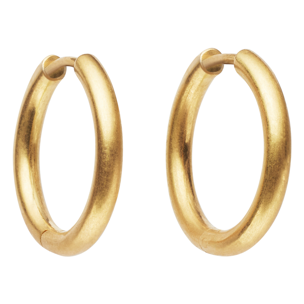 20K Peach Gold Small Clicky Hoop